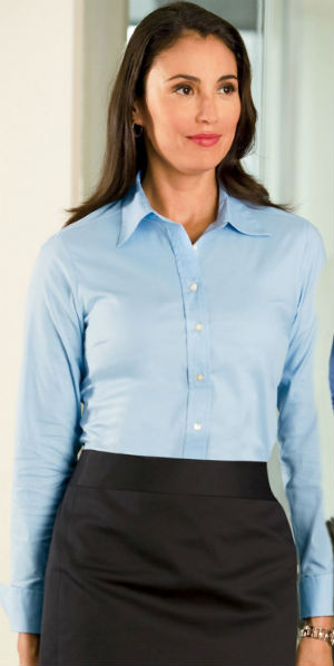 business shirt for women blue
