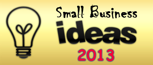 Small Business Ideas 2013